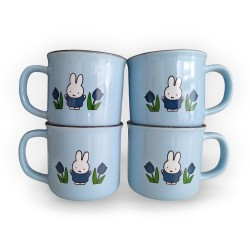 miffy retro mugs package blue