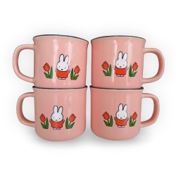 miffy retro mugs package pink