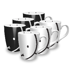 miffy face mugs package (6...